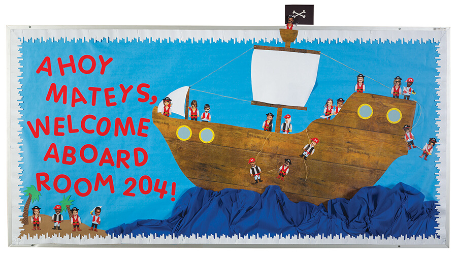 pirate classroom bulletin board