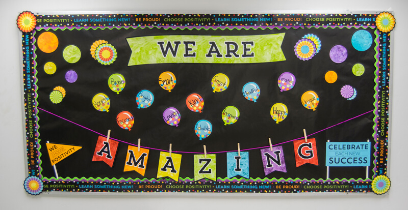 we are amazing bulletin board