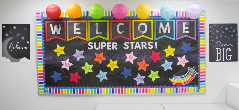 galaxy star rainbow bulletin board