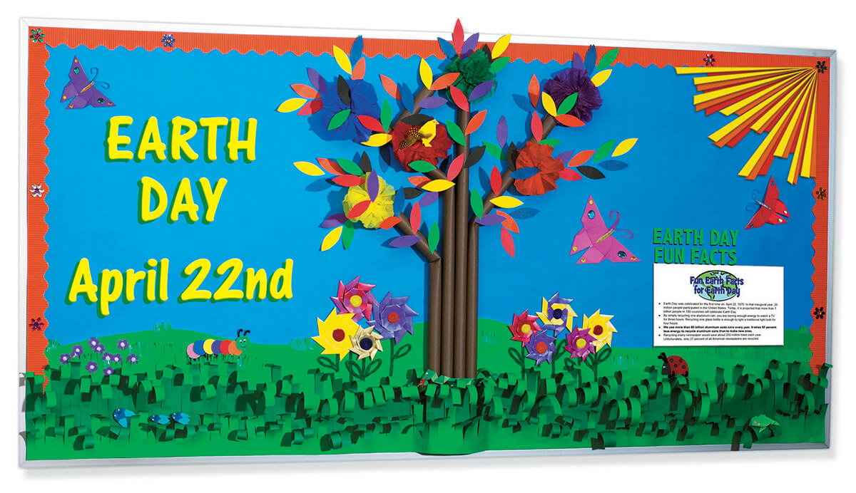 earth day 3d bulletin board