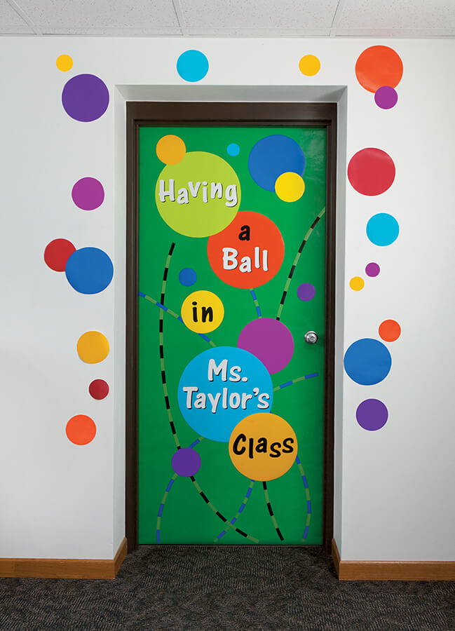 Having a ball door display