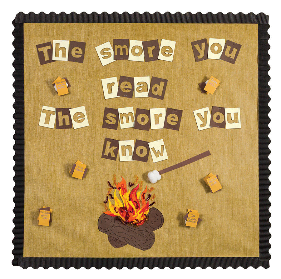 the smore you read the smore you know read a good book bulletin board