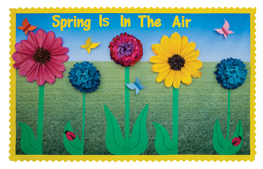 spring is in the air flower bulletin board