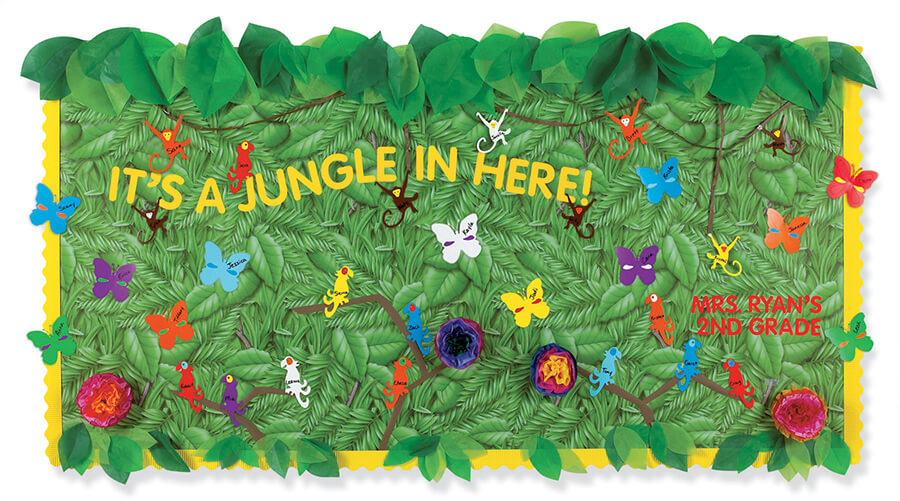 jungle classroom bulletin board