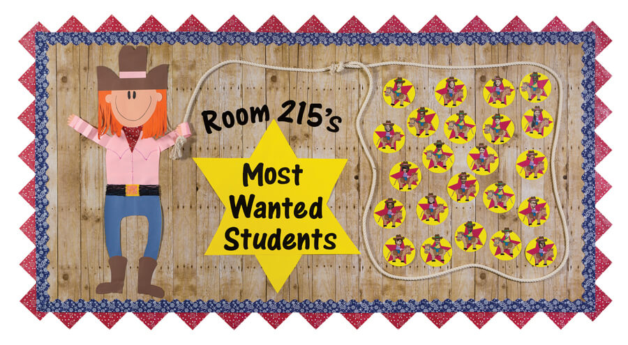 welcome rock starsmost wanted students western classroom bulletin board