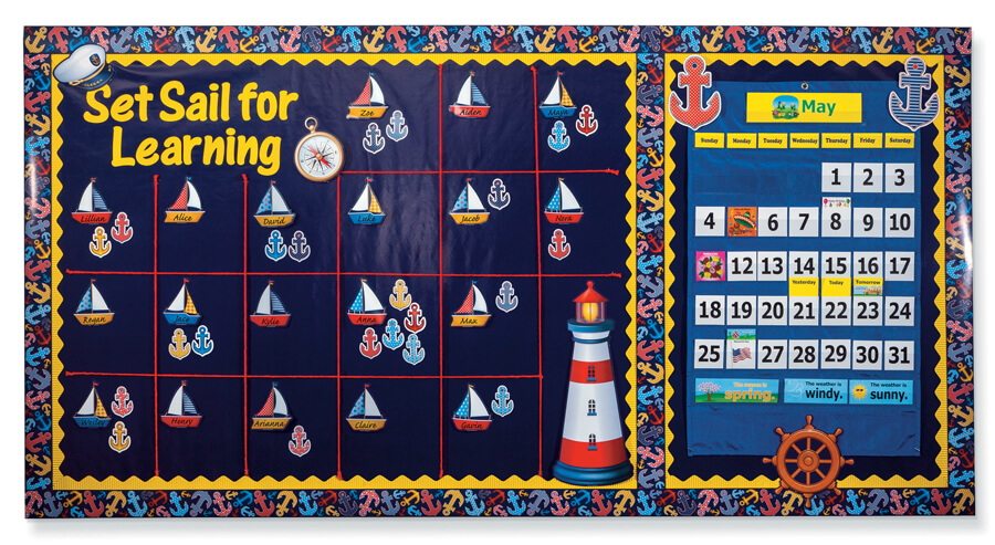 Set Sail for Learning Bulletin Board